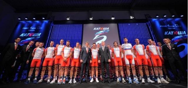 Equipe Katusha 2014 Junto com Igor Marakov e Viatcheslav Ekimov