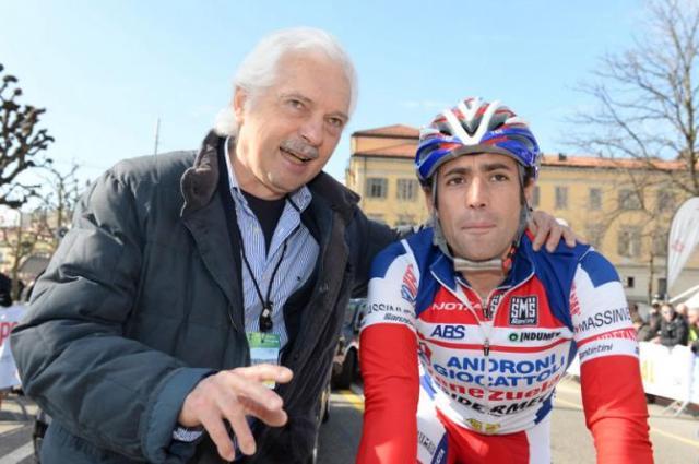 Davide Appollonio e Gianni Savio Gerente da Equipe.