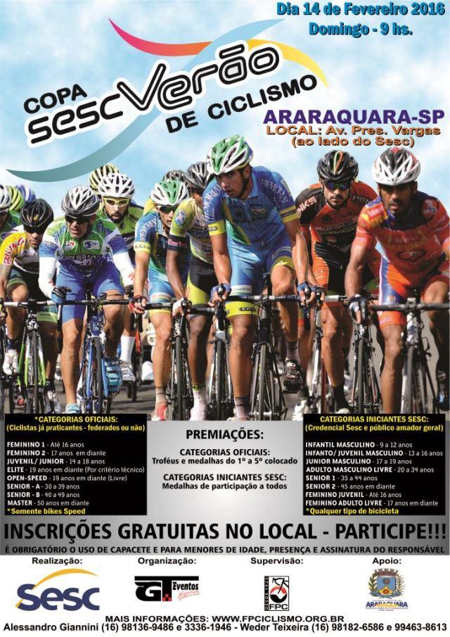 Folder Sesc Verão - Araraquara