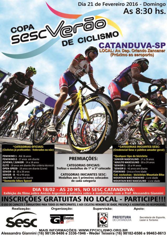 Copa Sesc Verão de Ciclismo - Catanduva-SP (1)