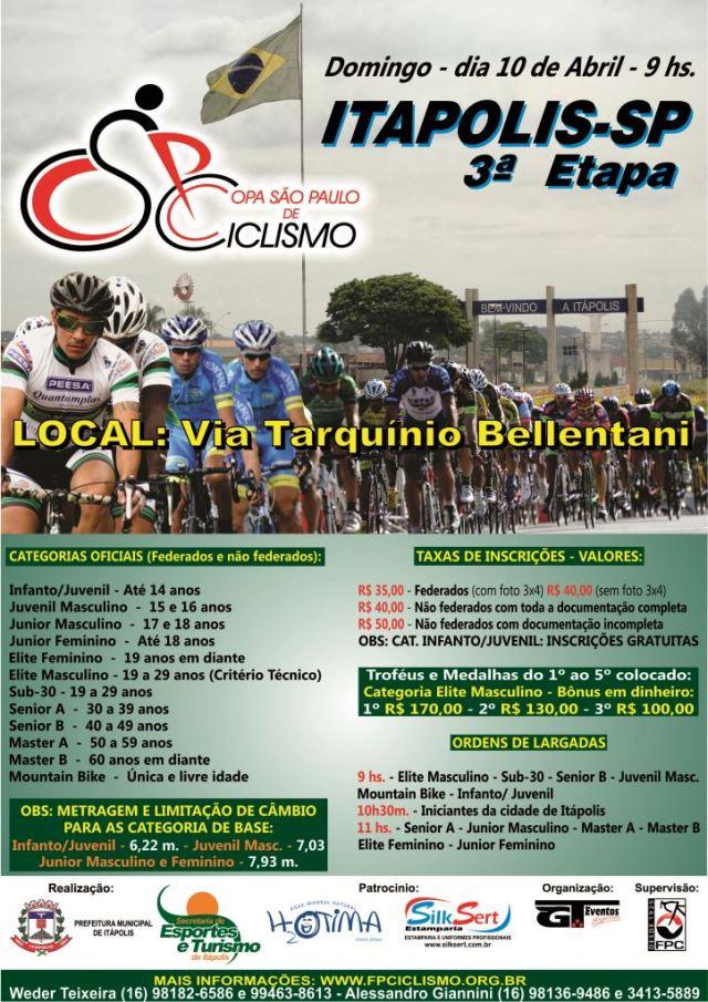 3ª Etapa CSPC 2016 - Itápolis