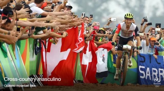 Nino Schurter Campeão Olimpico. Foto:site Oficial Rio2016